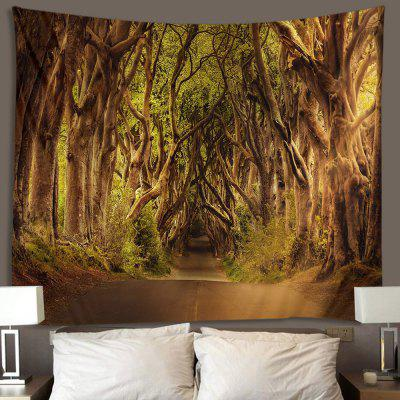 Forest Road Krajina Tapiserie Home Decor Blanket