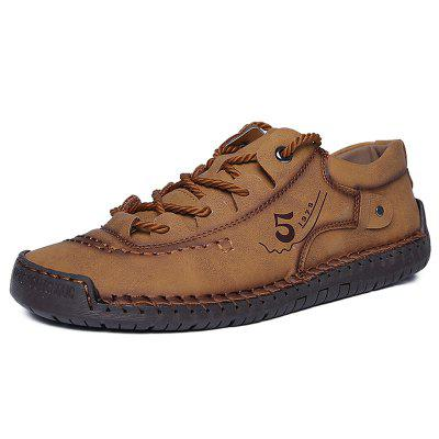 AILADUN Men's Spring Low-top Shoes Outdoor Handmade Breathable Soft Bottom Footwear