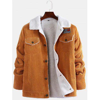 gearbest.com - Men's Fashion Furry Jacket Lapel Simple Butto