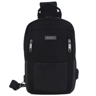 Men Lélegző Vízálló Chest Bag Zipper Mini Flip Messenger Pack
