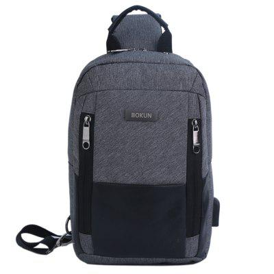 Mannen Ademende Waterbestendige Chest bag rits Mini Flip Messenger Pack