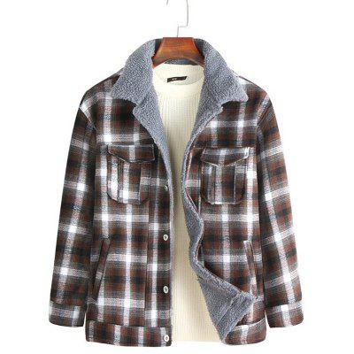 Fashion Plaid Jacket Warm Winter Furry Tooling laag van de mensen