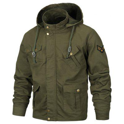 Men's Fashion Hooded Jacket Tooling Multi-poc