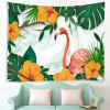 Desen animat Flamingo tropical foliaj model Tapiserie Home Decor Patura - MULTI
