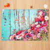 Nostalgic Flower Pattern Carpet Floor Pad Home Decor Mat - MULTI