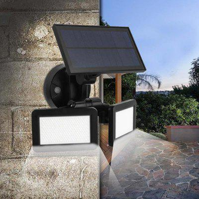 BRELONG BR-0122 48 Lámpara de Pared de Radar Sensor de Movimiento Infrarrojo Solar LED para Luz Impermeable