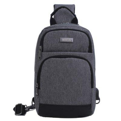Men Durable Small Chest Bag Adjustable Strap Length Crossbody Pack