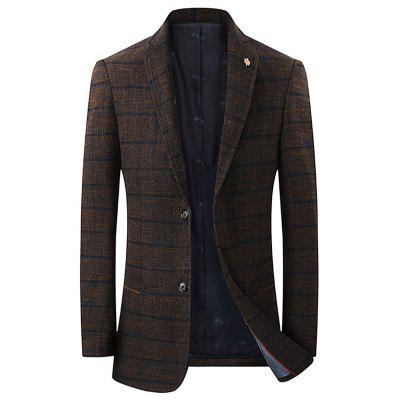 Men's Spring Leisure Striped Blazer Fashion Button-down Top