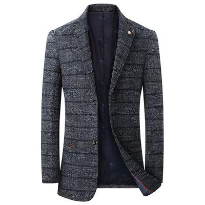 Blazer a Righe Casual Alla Moda con Bottoni in Primavera