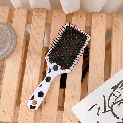 Concise Polka Dots Hair Comb Portable Massage Combs