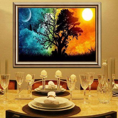 Fashion Color Contrast Landscape Pattern DIY Rhinestone Painting Set