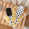Concise Polka Dots Hair Comb Portable Massage Combs - WHITE