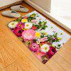 Flower Wood Board Pattern Carpet Home Decorative Floor Mats - MULTI