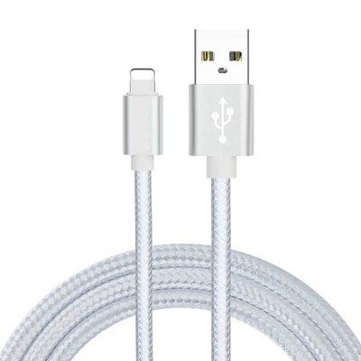 Nylon Braided Wire Metal USB Cable Sync Data Quick Charging For 2m IPhone