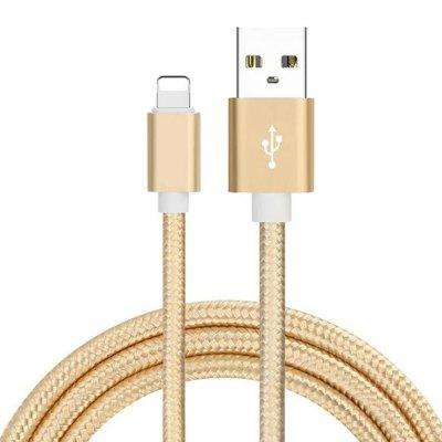 8 pins naar USB Fast Charging Cable Data Sync Transmission 200cm Nylon Geweven Wire voor iPhone