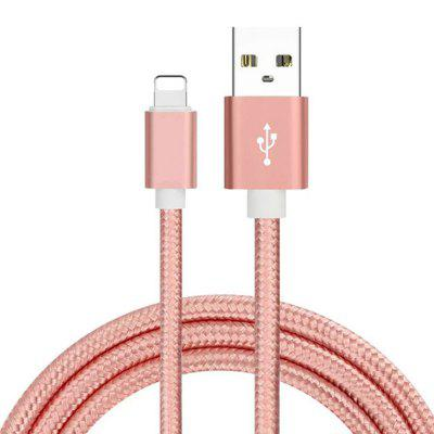8 pins naar USB Fast Charging Cable Data Sync Transmission 100cm Nylon Geweven Wire voor iPhone