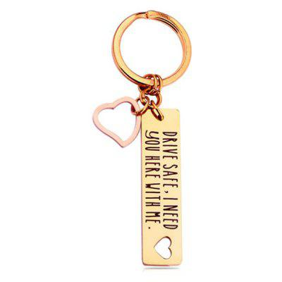 Stainless Steel Fashion Drive Safe Keychain