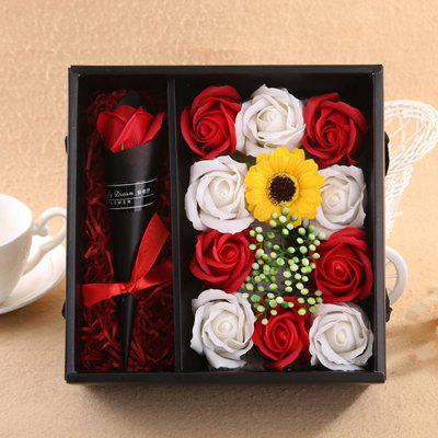 Lovely Romantic Soap Flower Gift Box Artificial Rose Birthday / Valentine's Day Presents
