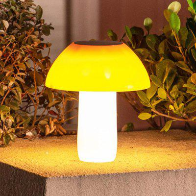 BRELONG BR-0127 20 LED Solar Lawn Light Outdoor Cute Mushroom Shape USB Rechargeable Garden Lamp