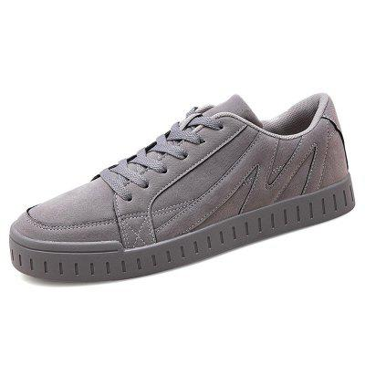 AILADUN Men Lace-up Flat Shoes Low-top Casual Footwear