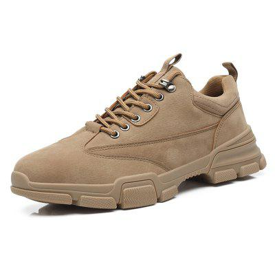 AILADUN Men Heavy-bottomed Non-slip Shoes Low-top Korean Easy-match Casual Footwear