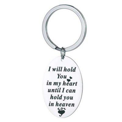 DIY I Will Hold You Stainless Steel keychain