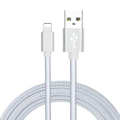 8 Pin to USB Fast Charging Cable Data Sync Transmission 100cm Nylon Woven Wire for iPhone