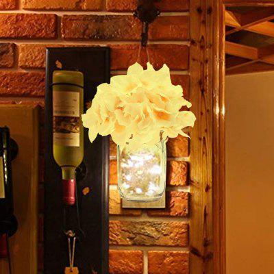 BRELONG BR-0119 Glass Bottle Flower Light Wall Hanging Artist Home Decoration 2pcs
