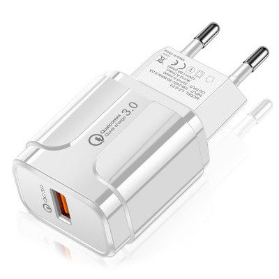 18W Quick Charge 3.0 Single Port Mini Smart USB Wall Charger Power Adapter