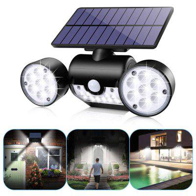 BRELONG BR-0125 30 LED Solar Wall Light Human Body Sensor Outdoor Spotlight Courtyard Garden Lamp