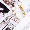 Stainless Steel Fashion Drive Safe Keychain - SILVER
