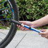 INBIKE Bicycle Pump with Pressure Gauge Mini Portable for Hyperbaric Mountain - BLUE