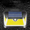 BRELONG BR-0129 163 COB Solar Sensor Wall Light Human Body 3 strany Lighting Outdoor Patio Pouličné lampa - čIERNA