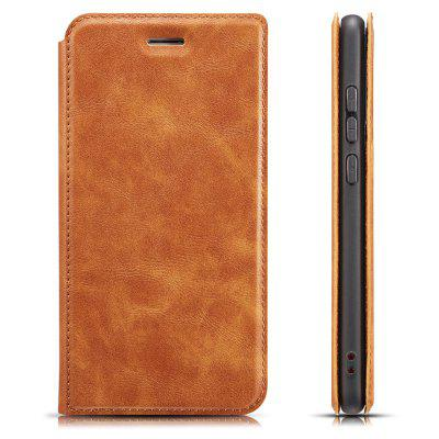 Retro Simple Ultra-thin Magnetic Leather Phone Case with Holder Card Slots Lanyard for Xiaomi Mi A3