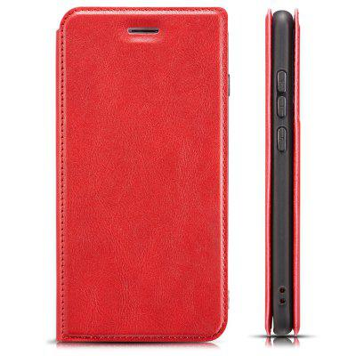 Retro Simple Ultra-thin Magnetic Leather Phone Case with Holder Card Slots Lanyard for Xiaomi Mi CC9 Pro