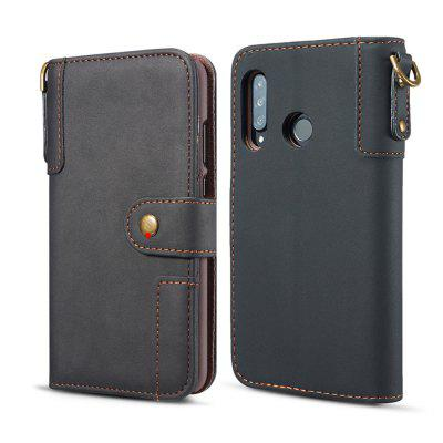 Cowhide Texture Horizontal Flip Leather Phone Case with Holder Card Slots Wallet Lanyard for HUAWEI Nova 4e