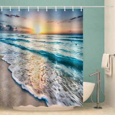 Sunset Printing Polyester Shower Curtain Polyester Water-resistant Bathroom Supplies