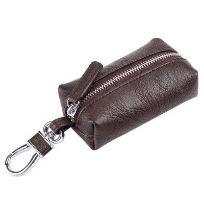 Men's Solid Color Mini Car Key Bag PU Business Pack