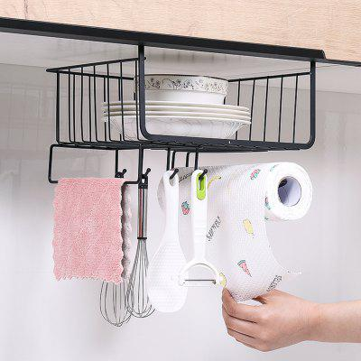 Kitchen Four Hooks Storage Rack Cabinets Hanging Holder