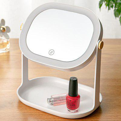 Touch Dimmer LED Fill Light Makeup Mirror Rotatable Desktop Photo Taking Helper