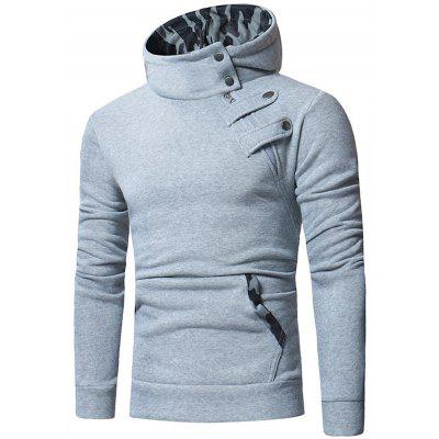 Men's Fashion Camouflage Hat Hoodie Casual Slim Long-sleeved Pullover