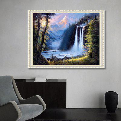 Leisure Style Waterfall Landscape Pattern DIY Rhinestone Painting Set