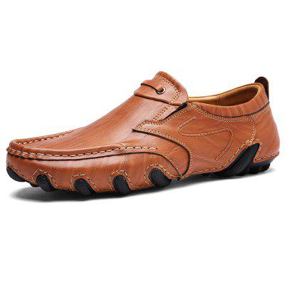 AILADUN Men's Casual Soft Bottom Shoes Handmade Slip-on Driving Footwear