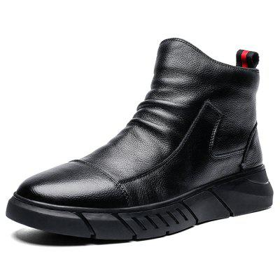 AILADUN Men's Fashion Boots Simple PU Uppers
