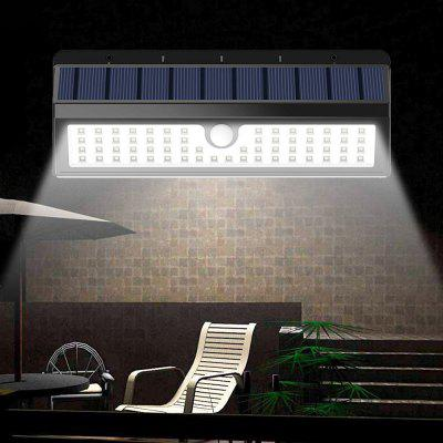 BRELONG BR-0120 62 LED Solar Wall Light Outdoor IR Motion Sensor Human Body 650lm Nagy fényerejű kerti lámpa