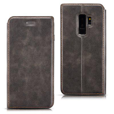Custodia in Pelle Magnetica Ultra Sottile Retro Semplice con Supporto per Samsung Galaxy S9 Plus