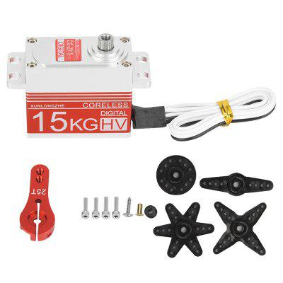 Digital Coreless Motor Metal Gear stuurservo voor 1/8 1/10 RC Car