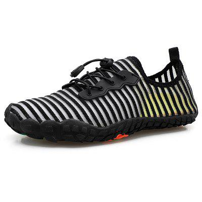Mannen Ademende Striped Upper Sneaker Anti-slip Sports Shoe Waden Footwear