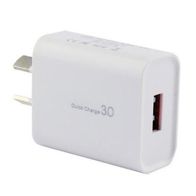 SOC-15A Portable Fast Charge 18W QC3.0 Charging Head Adapter AU Plug