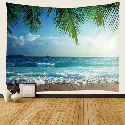 Sunny Beach 3D Digital Printing Water-resistant Tapestry